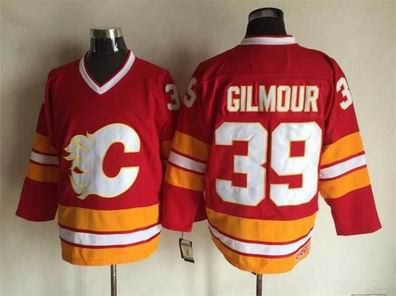nhl calgary flames #39 Gilmour red jersey
