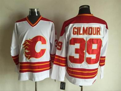 nhl calgary flames #39 Gilmour white jersey