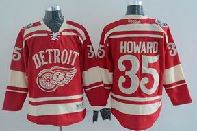 nhl detroit red wings 35# Howard red jersey