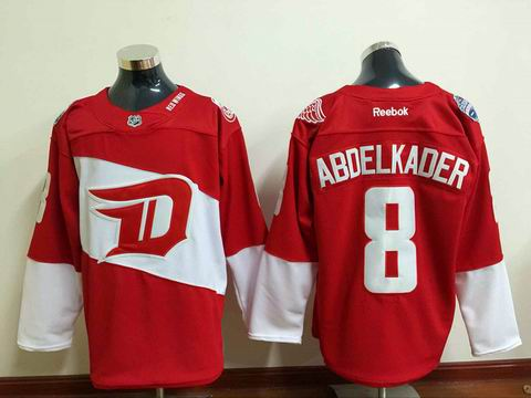 nhl detroit red wings 8 Abdelkader red jersey