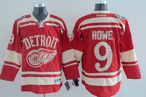 nhl detroit red wings 9# Howe red jersey