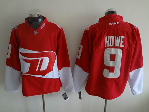 nhl detroit red wings 9 Howe red jersey