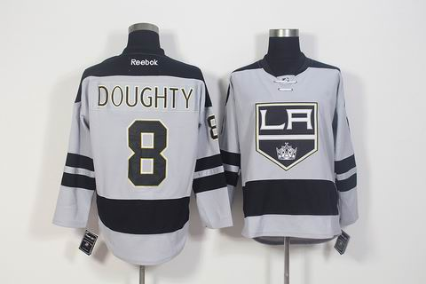 nhl los angeles kings #8 Doughty grey jersey