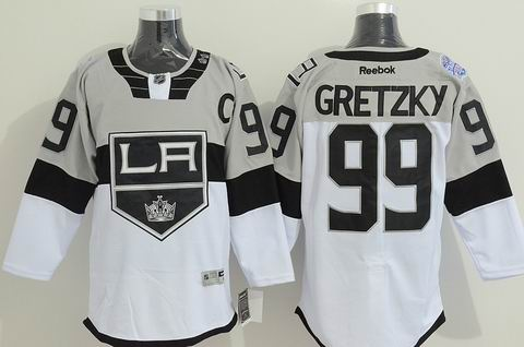 nhl los angeles kings #99 Gretzky white jersey