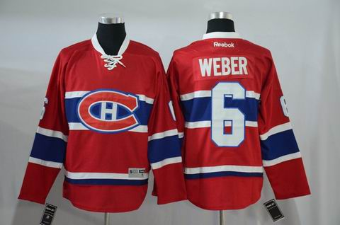 nhl montreal canadiens #6 Weber red jersey
