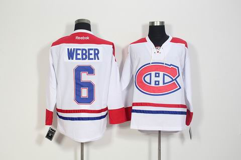 nhl montreal canadiens #6 Weber white jersey