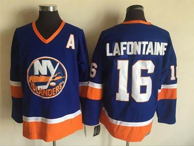 nhl new york islanders #16 Lafontaine blue jersey