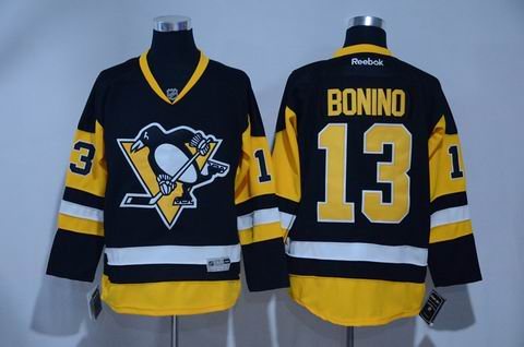 nhl pittsburgh penguins #13 Bonino black yellow jersey