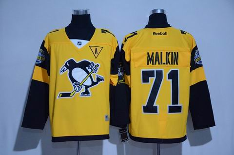 nhl pittsburgh penguins #71 Malkin 2017 winter classic jersey