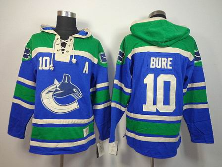 nhl vancouver canucks 10 Bure blue Hoodies Jersey