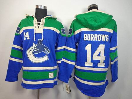 nhl vancouver canucks 14 Burrows blue Hoodies Jersey