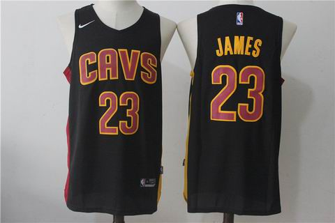 nike NBA Cleveland Cavaliers #23 JAMES black jersey