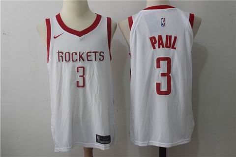 nike NBA Houston Rockets #3 PAUL white jersey
