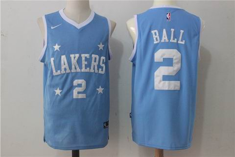 nike NBA Los Angeles Lakers #2 BALL blue jersey