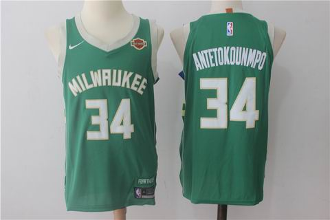 nike NBA Milwaukee Bucks #34 Antetokounmpo green jersey