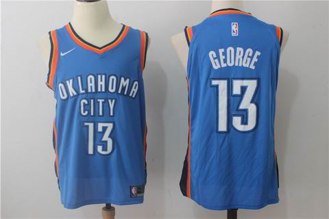 nike NBA Oklahoma City Thunder #13 GEORGE blue jersey