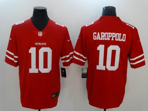 nike nfl 49ers #10 GAROPPOLO red rush II limited jersey