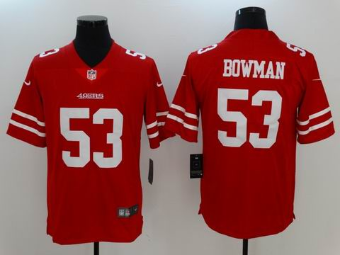 nike nfl 49ers #53 BOWMAN red Vapor Untouchable limited jersey