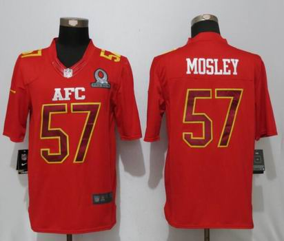 nike nfl Baltimore Ravens 57 Mosley Red 2017 Pro Bowl Limited Jersey