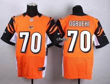 nike nfl Bengals 70 Ogbuehi orange elite jersey