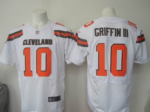 nike nfl Cleveland Browns #10 Robert Griffin III white elite jersey