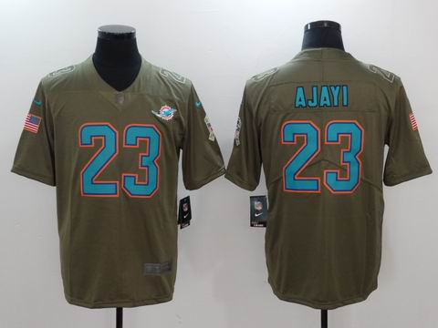 nike nfl Dolphins #23 AJAYI Olive Salute To Service Limited Jersey
