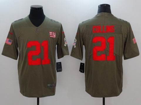 nike nfl Giants #21 COLLINS Olive Salute To Service Limited Jersey