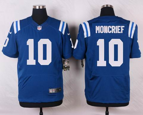 nike nfl Indianapolis Colts #10 Donte Moncrief blue elite jersey