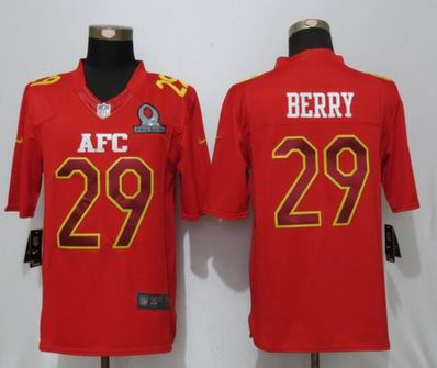 nike nfl Kansas City Chiefs 29 Berry Red 2017 Pro Bowl Limited Jersey