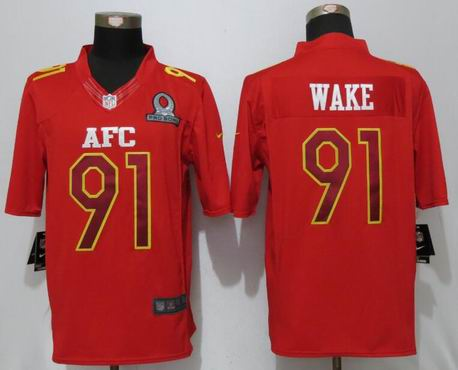 nike nfl Miami Dolphins 91 Wake Red 2017 Pro Bowl Limited Jersey