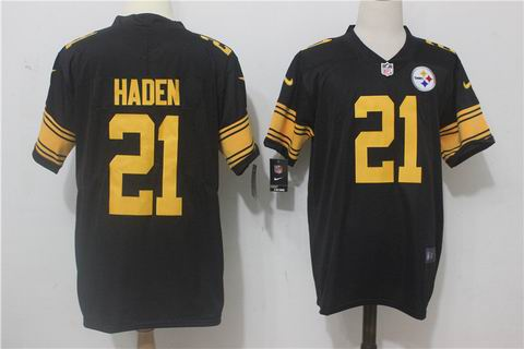 nike nfl Pittsburgh Steelers #21 Haden black rush limited jersey