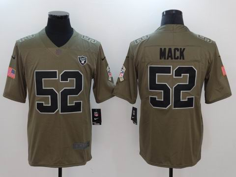 nike nfl Raiders #52 MACK Olive Salute To Service Limited Jersey