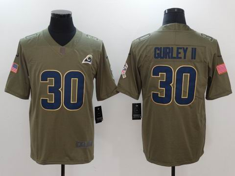 nike nfl Rams #30 GURLEY II Olive Salute To Service Limited Jersey