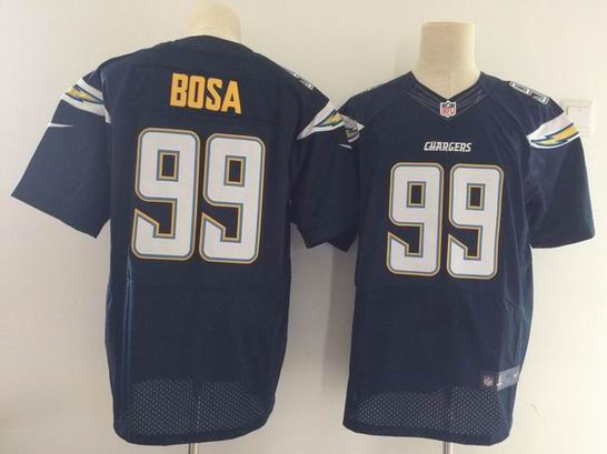 nike nfl San Diego Chargers #99 BOSA navy elite jersey