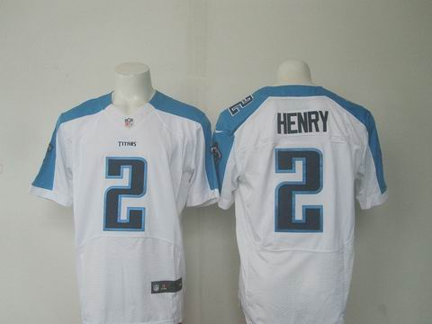 nike nfl Tennessee Titans #2 Henry white elite jersey
