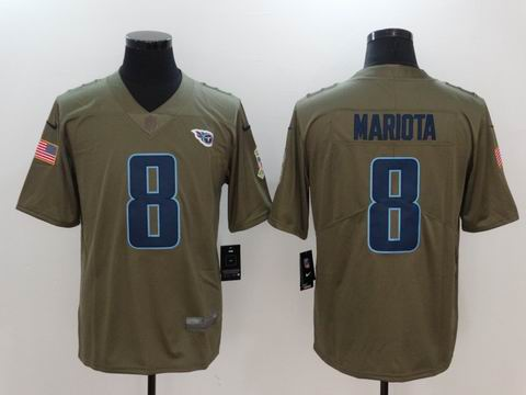 nike nfl Titans #8 MARIOTA Olive Salute To Service Limited Jersey