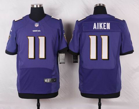 nike nfl baltimore ravens #11 AIKEN purple elite jersey
