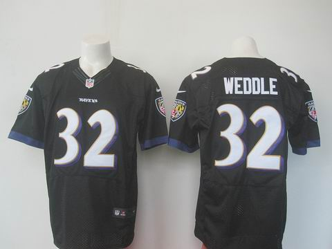 nike nfl baltimore ravens #32 Weddle black elite jersey