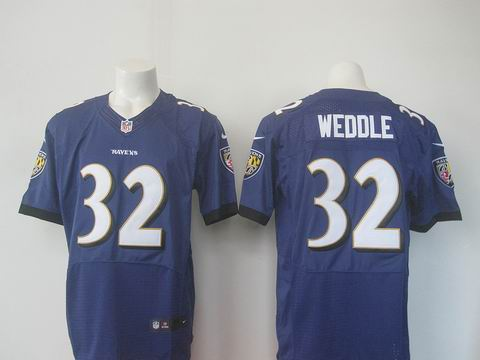 nike nfl baltimore ravens #32 Weddle purple elite jersey