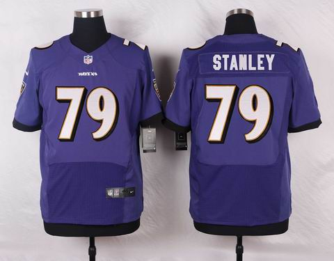 nike nfl baltimore ravens #79 STANLEY purple elite jersey