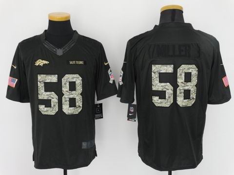 nike nfl broncos #58 Miller Anthracite 2016 Salute to Service jersey