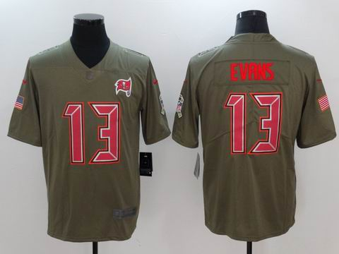 nike nfl buccaneers #13 Evans Olive Salute To Service Limited Jersey
