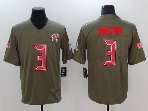 nike nfl buccaneers #3 winston Olive Salute To Service Limited Jersey