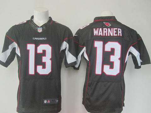 nike nfl cardinals #13 Warner black elite jersey