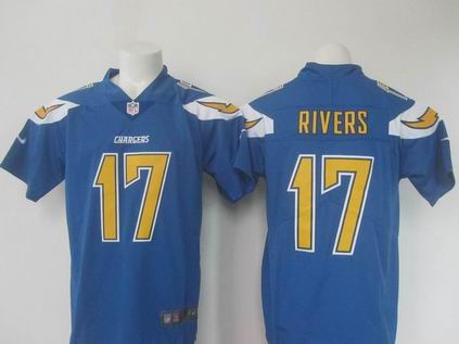 nike nfl chargers #17 RIVERS blue rush limtied jersey