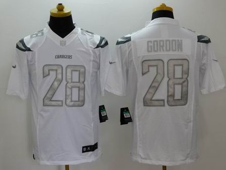 nike nfl chargers 28 Gordon white Platinum Limited Jersey