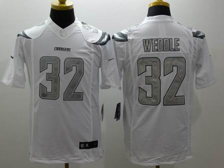nike nfl chargers 32 Weddle white Platinum Limited Jersey