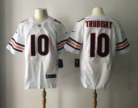 nike nfl chicago bears #10 Trubisky white elite jersey