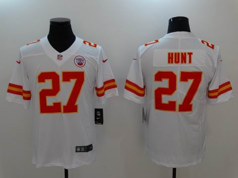nike nfl chiefs #27 HUNT white rush II limited jersey