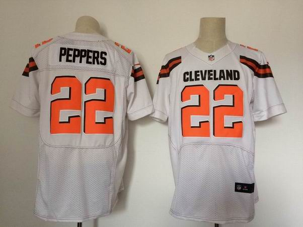 nike nfl cleveland browns #22 Peppers white elite jersey